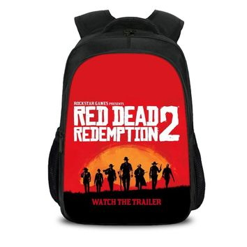 School bags Red Dead: Redemption 2 Game For Teens Travel Backpack Boys Bookbags For Student Bag Back To School H257