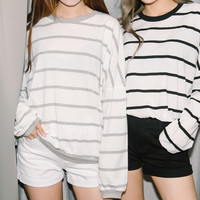 Striped Oversized Pullover | MIXXMIX