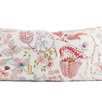 Mirabelle Floral Embroidered Lumbar Pillow