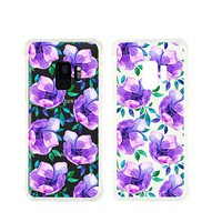 Cute Flower Pattern Transparent Silicone Plastic Phone Case for Samsung Galaxy S8 PLUS Phone_ SUPERTRAMPshop (Samsung S8 PLUS)