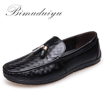 Luxury High Quality Genuine Leather Men Casual Driving  Shoes Breathable Soft Moccasins Loafers Flat Shoes Men