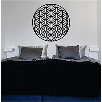 Flower of Life Version 2 Sacred Geometry Decal Sticker Wall Vinyl