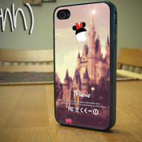 Disney iPhone 4 4S Case Minnie Mouse Rubber Plastic Case