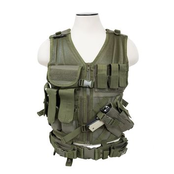 Tactical Vest Keeps Shooting Gear Organized for Easy Access [2XL+] - Green