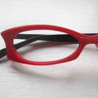 Extreme Vamp Cat Eye Eyeglass Frames by BackThennishVintage