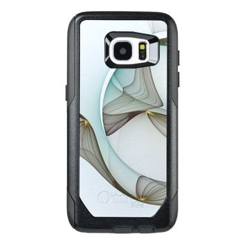 Abstract Modern Turquoise Brown Gold Elegance OtterBox Samsung Galaxy S7 Edge Case