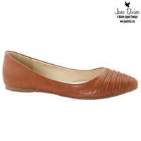 Get To The Point Flats-Tan | Jane Divine Boutique