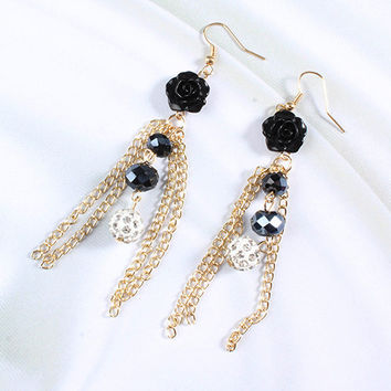 Roses & Tassels Earrings
