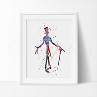 Dr. Facilier, Princess and the Frog Watercolor Art Print