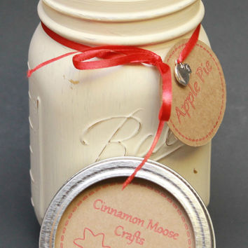 Apple Pie Candle / Mason Jar Candle / Apple Pie Soy Candle / Apple Pie Scent / Scented Soy Candle / Apple Pie / Gift Idea /Housewarming Gift