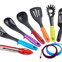 OLINKIT Cooking Tools 9-piece Kitchen Utensil Set, Elevate, Multi-color