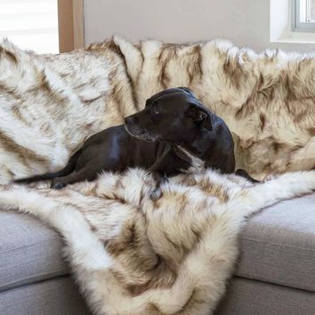 Faux Fur Shag Blanket