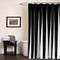 70*79inch Shower Curtains for Bathroom Printed Solid Black White Color Shower Curtain 1Piece Free Shipping