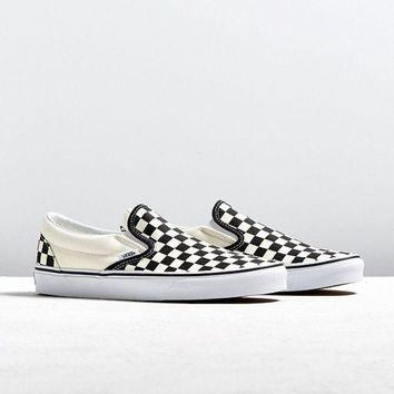 VONE9IB Vans Classic Checkerboard Slip-On Sneaker   Urban Outfitters