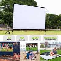 Movie Screen 60/72/84/100/120 inch 16:9 Home Cinema Projector Screen Portable Screen Projector Accessories Outdoor Movie Home Th