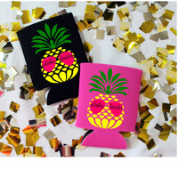 Aloha Beaches Pineapple Drinking Can Koozie