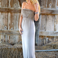 Leave You Breathless Maxi Taupe