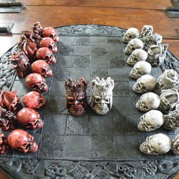 Skull  Chess Set/ Pieces (Board Not Included)
