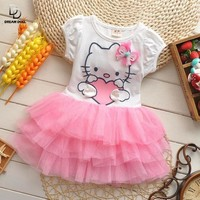 Hello kitty cartoon tutu dress