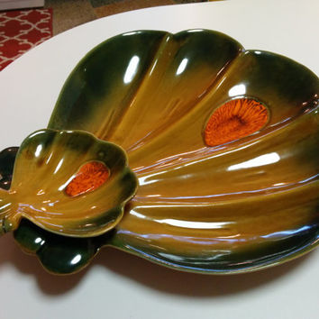 Mid Century California DeForest Pottery Chip Dip Platter