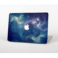 The Subtle Blue and Green Nebula Skin Set for the Apple MacBook Air 13""
