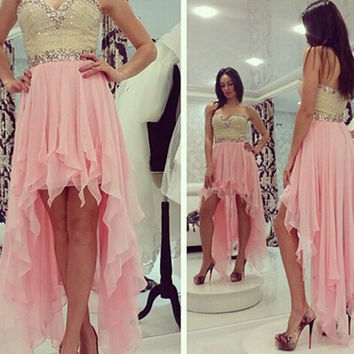 Gorgeous High Low Homecoming Dress