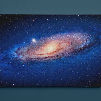 "The Andromeda Galaxy for NES, Pixel Art (12"" x 18"") - Canvas Wrap Print"