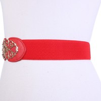 Red High Polish Metal Pendant Cute Belt