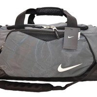 Nike Duffel Max Air Bag Gray Black Medium Gym Travel DuffleTraining Team New M