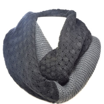 Black and Grey Infinity Scarf