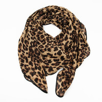 Infinity Scarf With Leopard Print -Fashion Shopping Mall