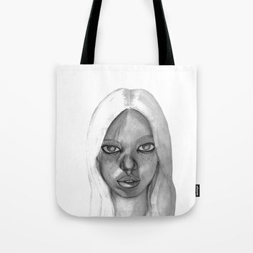Fashion Illustration Portrait Tote Bag by ideasinthings