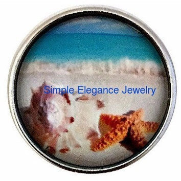 Ocean Scene Snap Charm 20mm For Snap Jewelry