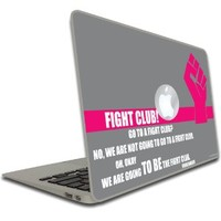 "Macbook Air or Macbook Pro (13 inch) Vinyl, Removable Skin - Bridesmaids - Movie Quote ""Fight Club..."""