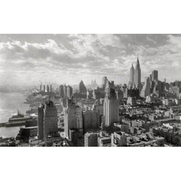 Manhattan poster Metal Sign Wall Art 8in x 12in