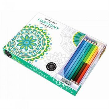 Adult Coloring Book Set with Pencils - Harmony