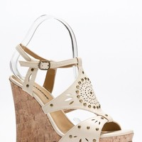 Studded Cut Out Cork Wedges @ Cicihot Wedges Shoes Store:Wedge Shoes,Wedge Boots,Wedge Heels,Wedge Sandals,Dress Shoes,Summer Shoes,Spring Shoes,Prom Shoes,Women's Wedge Shoes,Wedge Platforms Shoes,floral wedges