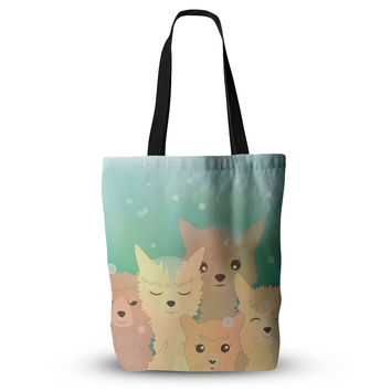 "Graphic Tabby ""Alpacas In Snow"" Pastel Animals Everything Tote Bag"