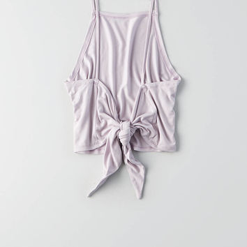 AEO Tie Back Crop Cami , Lively Lilac