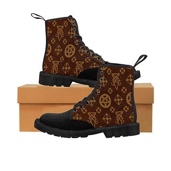 Louis Cipher Vuitton Men's Martin Boots