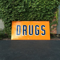 Vintage Signs, Porcelain Drug Sign, Rexall Drugs, Pharmacy Sign, Drug Store Advertising Sign