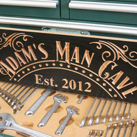 Man Cave Sign: Carved Wooden Signs Diva Den Sign Custom Wood Signs Personalized Wood Sign Business Signage 9x23 GC