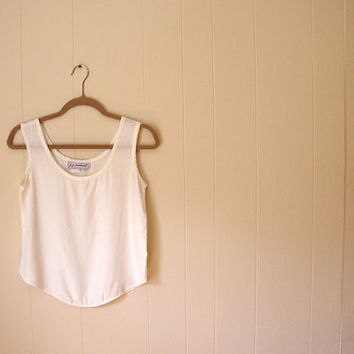 TWIST of a Tank in White Retro Top by alacloth on Etsy