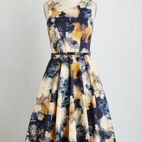 Long Sleeveless Fit & Flare Light and Visionary Dress by Closet from ModCloth