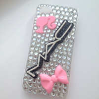 Pink Bling Makeup Cosmetics Crystallised iPhone 5 Protective Cell Phone Case Cover