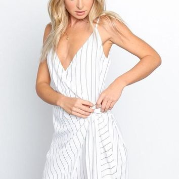 Line Sided Wrap Dress