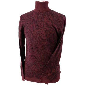 Turtleneck Sweater with Paisley Pattern by Lavané