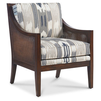 Windwood Chair, Smoke/Slate Ikat, Accent & Occasional Chairs