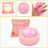 Areedy Squishy Love Cake Jumbo Rose Heart Cake Slow Rising Original Packaging Collection Gift Decor