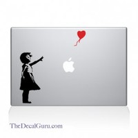 Banksy Girl & Balloon Macbook Decal